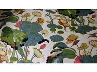 GP & J Baker linen curtain/ upholstery fabric.