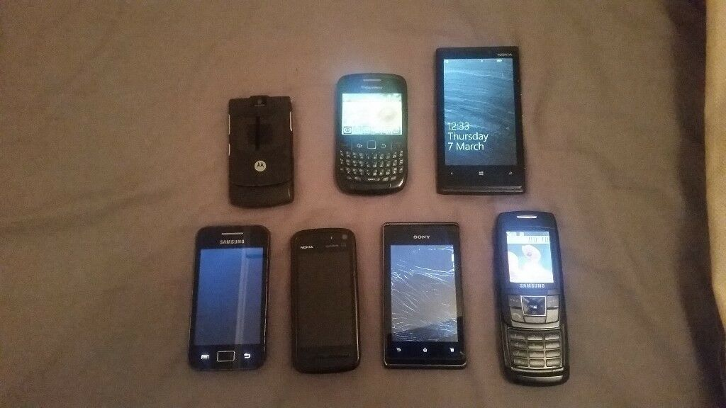 Bundle / Job Lot 7 mobile phones - spares and repairs