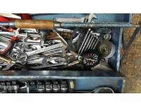 toolbox with lots of tools