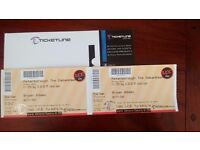 2 X BRYAN ADAMS TICKETS THE EMBANKMENT PETERBBOROUGH