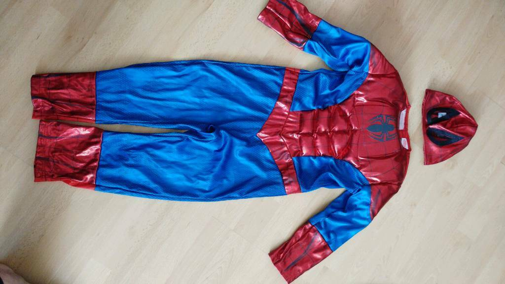 Age 5-6 Spiderman costume and mask