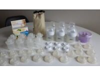 Big bundle of Philips Avent Natural Classic & Tommee Tippee Baby Bottles, Teats + Formula Pots