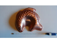 Vintage Copper Fish Jelly Mould