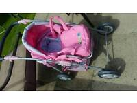 Dolls pram. Folds down can have doll front or back facing