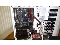 Newly assembled custom built gaming PC + Extras