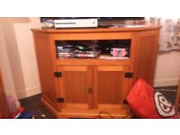 Pine television stand