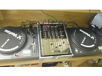 Vestax decks & mixer DJ set & vinyl & CD recorder amp