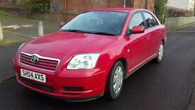 TOYOTA AVENSIS 2004 FULL YEAR MOT EXCELENT CONDITION