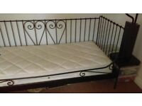 Single metal day bed with mattress