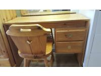 Pine Desk & Chair