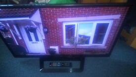 LG 42'' LCD SMART TV TELEVISION INTERNET TV SLIGHT FAULT FREEVIEW HDMI REMOTE faulty tv