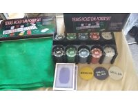 Texas Hold'em poker set (NEW, never used and never opened)