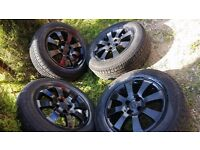 15 inch mint condition corsa alloys with excellent condition tyres 4 stud 4 × 100.
