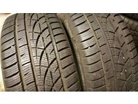 225 45 17 2 x tyres Hankook winter i*cept EVO W310