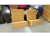 2 Ikea bedside tables with drawers. Free local delivery ..