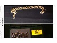 9ct belcher bracelet 36 gram