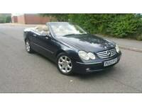 BARGAIN MERCEDES CLK 200 COMPRESSOR CONVERTIBLE 163 BHP 6SPD MANUAL 8 MONTH MOT,LEATHERS,COVERTABLE