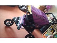 Out n about nipper 360 double in purple