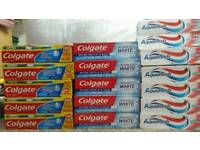 Clearance 123 items brand new tooth pastes for £65