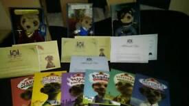 Real meerkat teddies and books