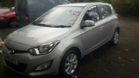 Silver Hyundai i20 (2013) Diesel 1.1L Manual 5 doors £5,000