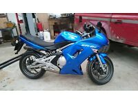 2008 Kawasaki ER6-F low miles with good service and MOT history, ideal first big bike.