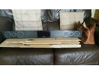 Soundbar Toshiba with subwoofer.