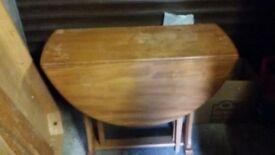Oval Drop Leaf Pine Table