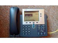 Cisco 7940 IP Phone (Phones) - PoE VoIP SIP (or SCCP) Asterisk FreePBX (CP-7940G, 7940G)