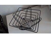 Contemporary matt black metal decorative fruit bowl - as new
