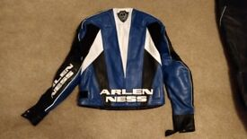 Arlen Ness leather jacket and trousers