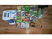 Xbox 360 + Kinect + 20 games + turtle beach h/set + Ps4 tv + zone 40 wirleless retro games console