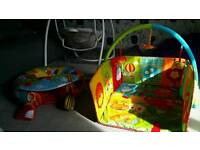 3 sided enclosed play gym and sit me up ring