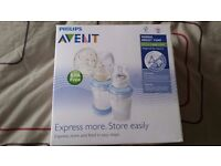 Philips Avent manual breast pump with VIA storage systems