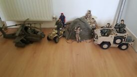 Selection of figures and vehicles