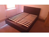 """KING SIZE BED FRAME, """"OTTOMAN"""" PERFECT CONDITION"""