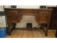 Desk - Antique-y Solid Wood - Good Condition