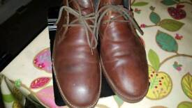 Brown soft Clarke leather boots size 10 adult