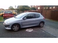 Silver Peugeot 206 1.4 2005 Sport - Drive away today Tax and MOT