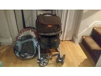 babys push chair complete carseat and luagauge bag