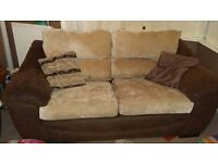 Dfs sofa and a matching sofa bed.