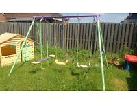 garden swing already dismantled