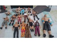 WWE wrestling figures and accessories