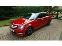**2012 Mercedes C220 CDI AMG Sport Plus (Pan Roof, Sat nav, Auto, Bi-Xenons)**
