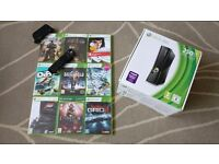 XBox 360 S 250GB with 9 games, Genuine Chatpad and Media Remote