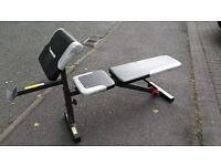 MAXI MUSCLE WEIGHTS BENCH WITH ARM CURL