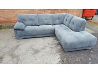 Comfy EX DISPLAY model grey fabric corner sofa.clean and tidy. can deliver