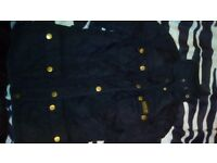 Girls black quilted Barbour jacket 6yrs