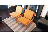 Pair Of Funky Iconic Vintage/Retro 772 Ercol Mustard/Yellow Easy/Lounge Chairs