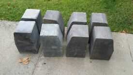 FREE - 8 large Charcoal Kerb Blocks